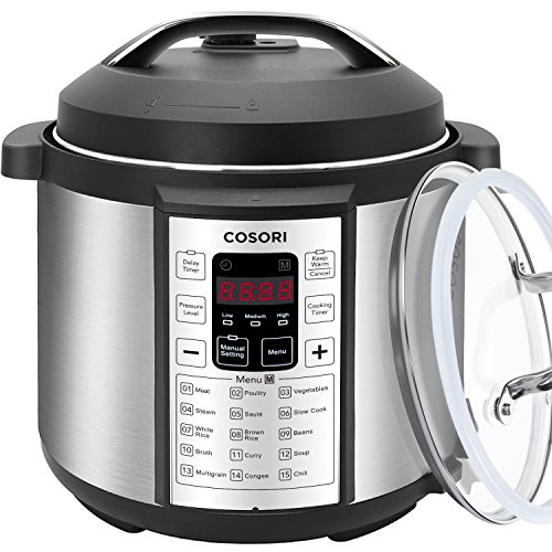 COSORI 7-in-1 Multifunctional Programmable Pressure Cooker, Rice Cooker, Slow Cooker with Stainless Steel Inner Pot, 6 Quart