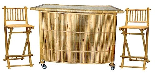 3 piece set with bamboo tiki bar amazon co uk garden outdoors rh amazon co uk Walmart Tiki Bars for Sale Used Tiki Bars for Sale