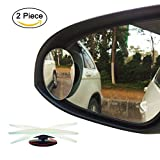 Ampper Egg Shape Blind Spot Mirrors, Frameless 360° Rotate + 30° Sway Adjustabe HD Glass Convex Wide Angle Rear View Car SUV Stick On Lens (Pack of 2)