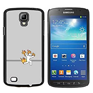 "Be-Star Único Patrón Plástico Duro Fundas Cover Cubre Hard Case Cover Para Samsung i9295 Galaxy S4 Active / i537 (NOT S4) ( Stick Man On Fire - Gracioso"" )"