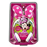 Minnie Mouse  Bow -Tastic Disney Junior Kid Friendly Volume Reduced Youth Stereo Headphones