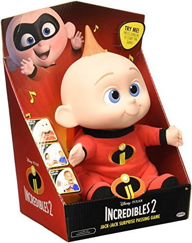 Disney Pixar Incredibles 2 - Jack-Jack Surprise Passing Game - Press Jack-Jack Emblem to Start The Music Pass Him Around! -