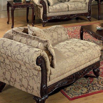 Franklin Chaise Lounge Fabric: Clarissa Carmel / Talbert / Tally Carmel