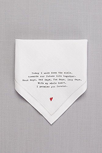 Groom Love Note Handkerchief Style 98110004, White by David's Bridal (Image #2)