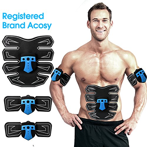 Acosy ABS Simulator & Muscle - Portable Muscle Trainer with Rhythm & Soft impulse - 6 Modes & 10 levels with Simple Operation - Ultimate abs stimulator for Men Women