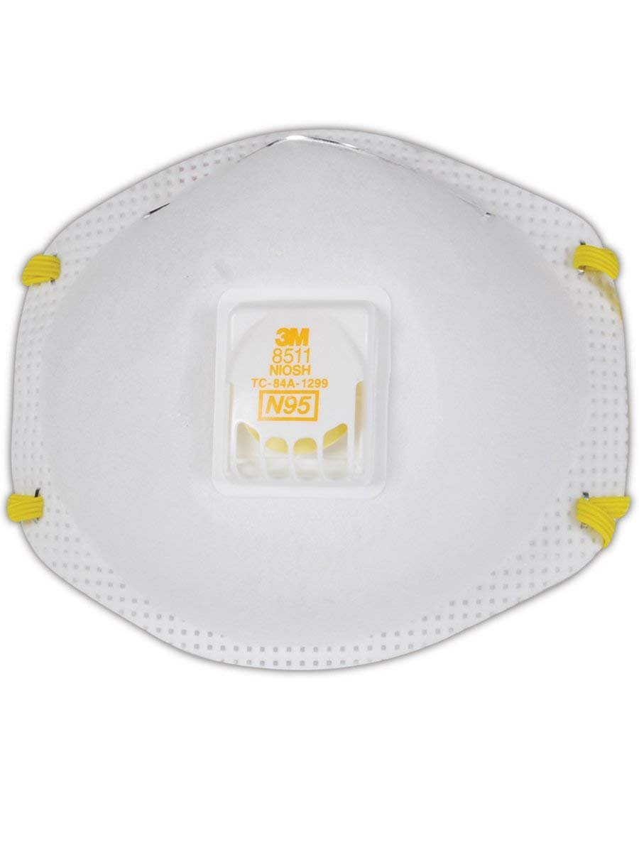3M 8511 Disposable Series N95 Cool Flow Respirator (20/Box) by 3M Respiratory Protection