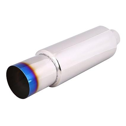 Punta del extremo del tubo del silenciador del escape del coche universal de 2.5 pulgadas: tubo de acero inoxidable de TipTail de la quemadura