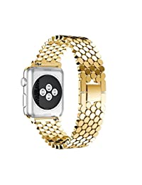 Becoler Stainless Steel Strap Wrist Band Replacement Watch Bands for Apple Watch Series 3 38MM