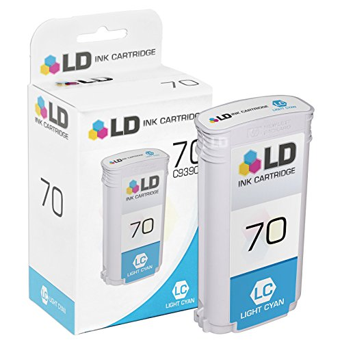 70 Inkjet Cartridge Light - LD Remanufactured Replacement for HP 70/C9390A Pigment Light Cyan Ink Cartridge