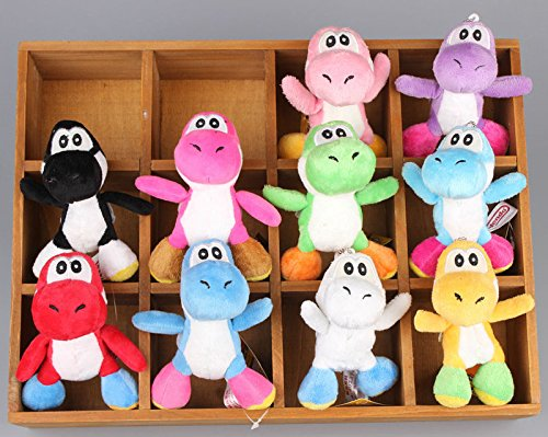Super Mario Bros Yoshi Dinosaur 4 Inch Toddler Stuffed Plush Kids Toys 10 Pcs/set