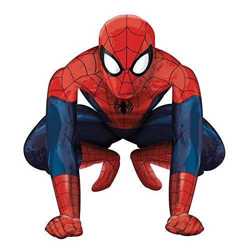 [Anagram Spider Man Gliding Balloon, Multicolor, Giant] (Superhero Themed Costumes Ideas)