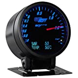 3in1 Black Face BAR Boost, Digital BAR Pressure and Celsius Temperature Gauge