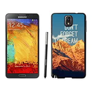 Dont Forget To Dream Hard Plastic Samsung Galaxy Note 3 Protective Phone Case