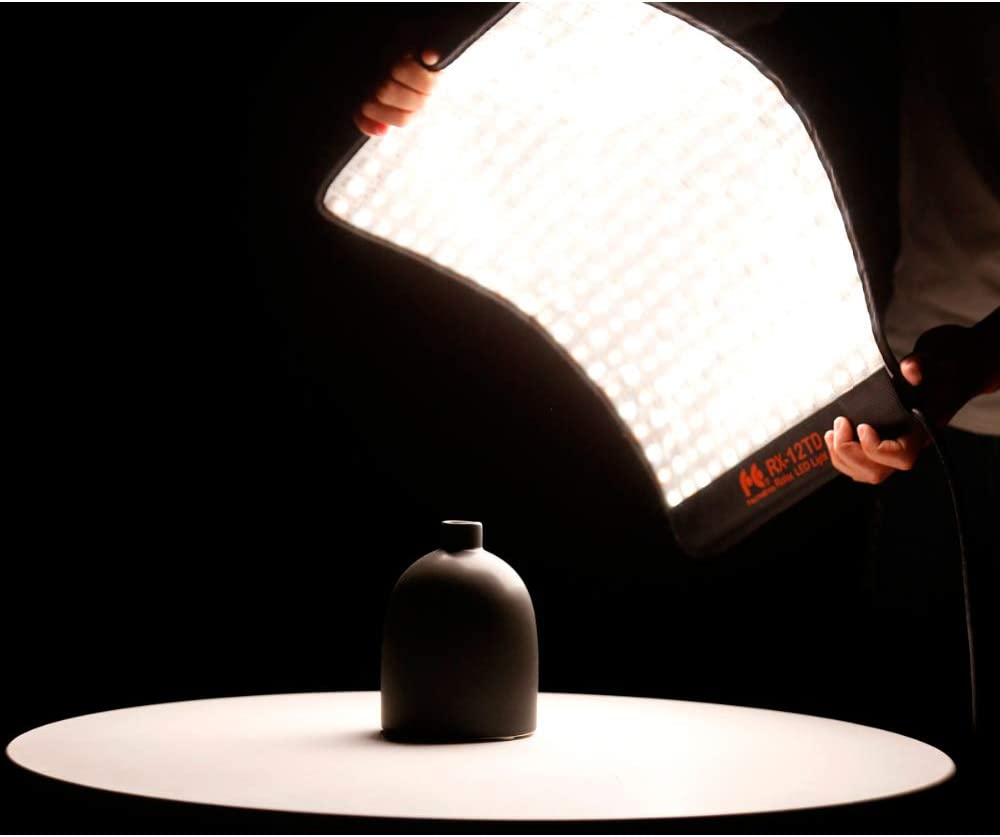 FalconEyes LED Flexible Panel RX-12TD Video light Dimmable 3000K - 5600K CRI95 280pcs Rollable Cloth Light with LCD Touch Screen