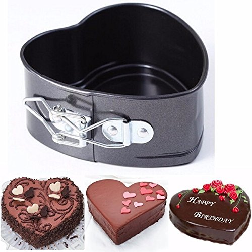 Bakeware & Accessories - Non-Stick Stainless Steel Cake Pan Heart Shape Cheese Bread Jelly Pudding Muffin Mold Baking Tool - Marrow Molded Patty Trash Nerve Wrought Coat Genus - 1PCs