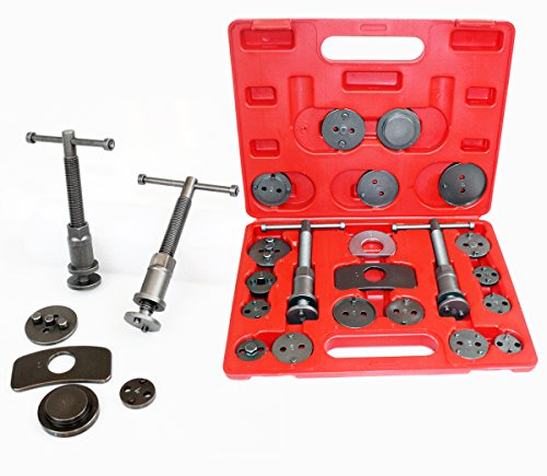 21PC Disc Brake Caliper Wind Back Tool 4WD Right & Left Hand Spindle Shoe Pad