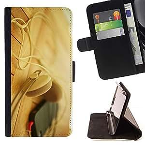 Momo Phone Case / Flip Funda de Cuero Case Cover - Auriculares Teléfono Beige - MOTOROLA MOTO X PLAY XT1562