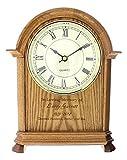 P. Graham Dunn Laser Engraved Personalized Memorial Oak Mantle Clock - 10.5''
