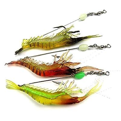 LSD Soft Bait Biomimetic Fishing Lure Hook Bionic Shrimp Noctilucent Glow Fishing Tackle Lure Bait 18cm Random Color Only One Piece NOT Three