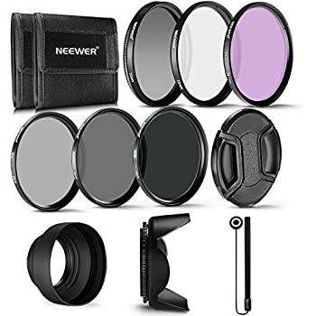 Neewer 72MM Professional UV CPL FLD Lens Filter and ND Neutral Density Filter(ND2, ND4, ND8) Accessory Kit for Canon EF 35mm f/1.4L, EF 85mm f/1.2L II
