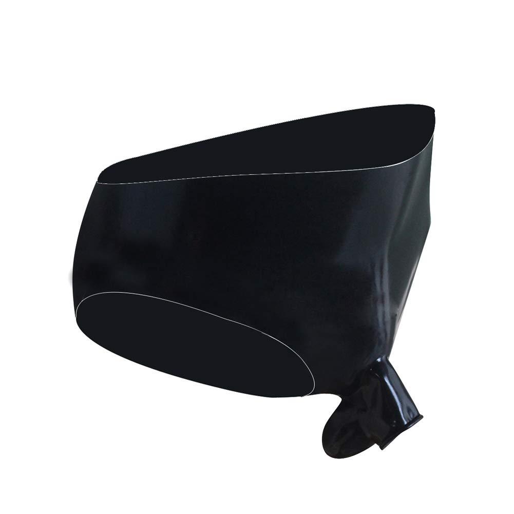 EXLATEX Men's Underwear Latex Rubber Lingerie Ball Half Sheath Cut-Out Ring