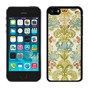 Colorful Damask Black For iPhone 5C Case Genuine and Cool Design