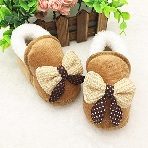 Schuhe Baby Prewalker Stiefel Khaki Bowknot Schuhe Weiche Schuhe Weiche Schuhe 284896
