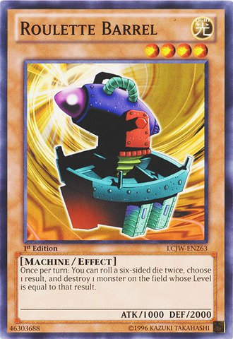 Yu-Gi-Oh! - Roulette Barrel (LCJW-EN263) - Legendary Collection 4: Joey's World - 1st Edition - Common