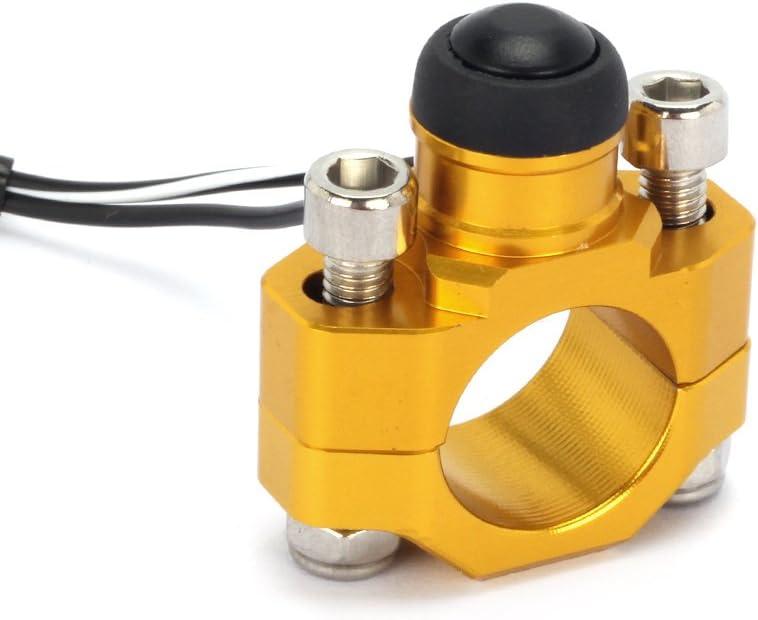 JFG RACING CNC Universal Motorcycle Engine Stop Start Kill Switch Button With Mounting Backplate For Suzuki RMZ250 RMZ450 DRZ400 - Gold