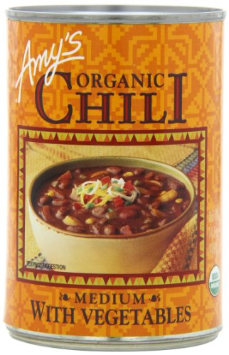 - Amy's Organic Chili, Medium with Vegetables, 14.7 Ounce (Pack of 12)