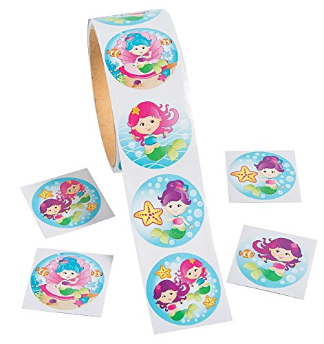 Mermaid Stickers - 100 pc