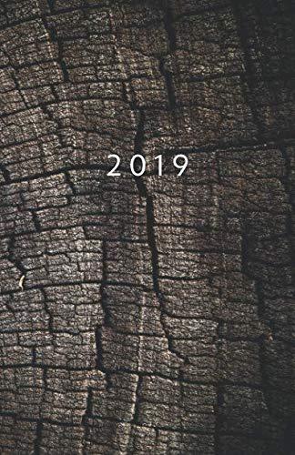 2019: Planer ab 1. Mai bis 31. Dez   1 Tag auf 1 Seite Termin-Kalender mit Uhrzeit   Wochenplaner Format ca. A5   Holz Motiv (German Edition) (Holz 4 Sie)