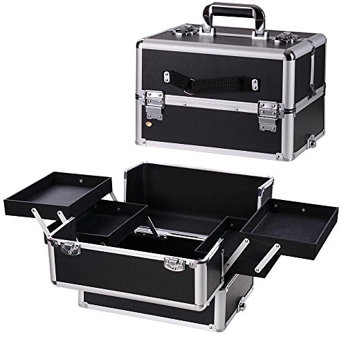 Aw Black 2in1 Pro 4 Wheel 14x9x29 Rolling Makeup Train