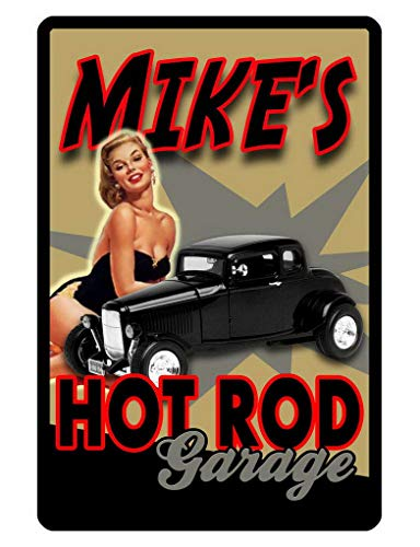 Uptell Personalized Hot Rod Garage Sign Printed W Metal Signs 8x12 Inch Car Auto