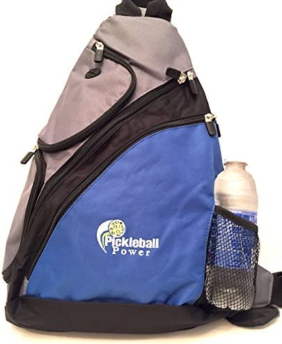 Pickleball Marketplace Urban Sport Sling Backpack – New embroidered – Blue