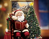 Santa Claus Christmas Tree Painting Prints on Canvas Wall Art Picture for Living Room Kictch Home Decorations