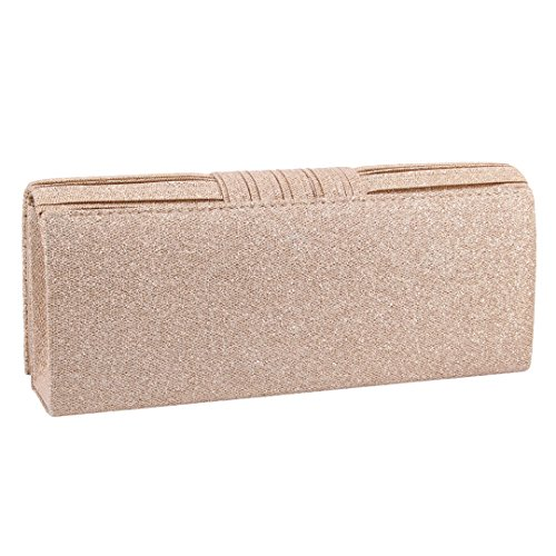 Bag Naimo Purse Bag Evening Clutch Womens Champagne 972 Sparkle Paillette Wrinkle 7Zw7rX