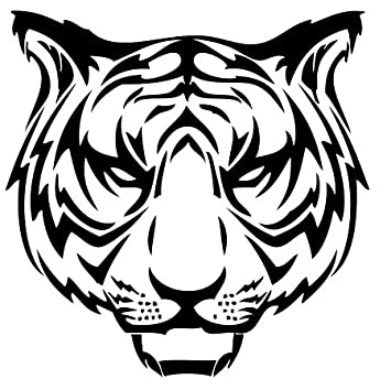 Design tribal tattoo tiger vinyl sticker stickers decal deco h