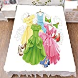 iPrint Bed Skirt Dust Ruffle Bed Wrap 3D Print,Bikini Shoes Wardrobe Party Costumes Girls Room,Fashion Personality Customization adds Color to Your Bedroom. by 59''x78.7''