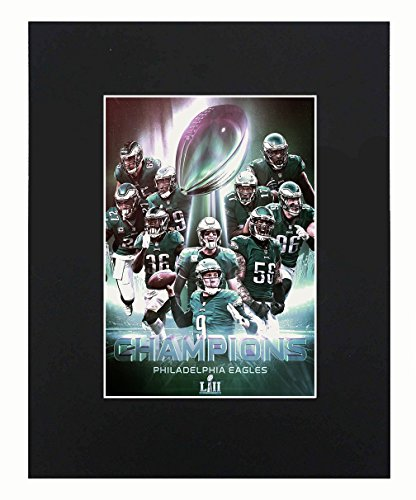 Philadelphia Eagles NFL 2018 Super Bowl Champions Nick Foles Football Team Art Print Picture poster 8x10 Matted Artworks Print Printed Picture Photograph Gift Wall Decor Display USA Seller