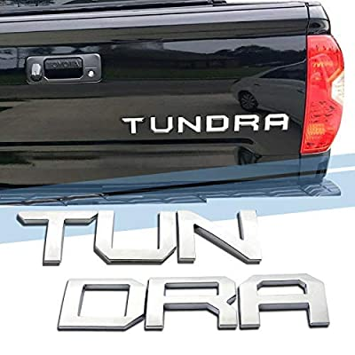 SUPAREE TUNDRA 2014-2020 Tailgate Insert Letters - 3D Raised Tailgate Decal Letters - Chrome: Automotive