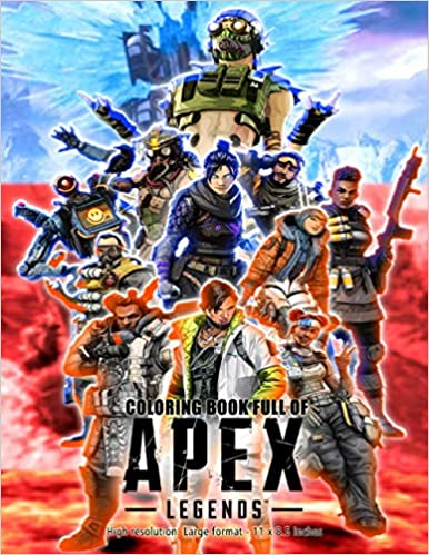 20. Apex Legends Coloring Book : High resolution & Large format