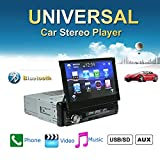 Lexxson 7Inches Single Din Touchscreen Bluetooth MP3/MP4/USB/SD AM/FM Car Stereo, 7 Inch Digital LCD Monitor Detachable Front Panel Wireless Remote CW0013