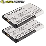 2x Exell Li-ion 3.7V Battery Fits Bamboo CTH-470K, CTH-470S, PTH-450, PTH-850 Replaces F1134J-711 1UF553450Z-WCM, ACK-40403 B056P036-1004, SLA-A328 1UF553450Z-WCM, ACK-40403 B056P036-1004, F1134J-711