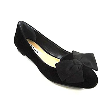 Black Leather Women's Ballet Flats by NINA Size 6.5 M