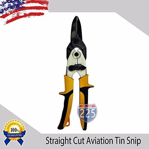 (Straight Cut Aviation Tin Snips Cutting Blades Sheet Metal Serrated Edge Blades )