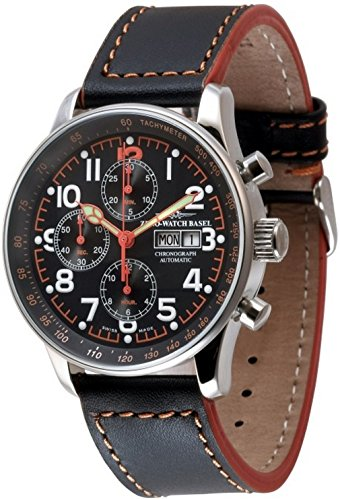 Zeno-Watch Mens Watch - X-Large Pilot Chronograph Day-Date special - P557TVDD-a17