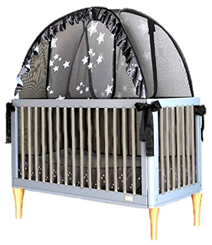 Popup Crib Tent - Keep Toddlers from Climbing Out of The Crib - No More Crib Escapes and so Much More