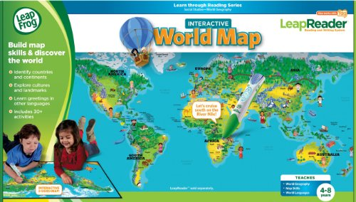 LeapFrog LeapReader Interactive World Map (works with Tag) by LeapFrog (Image #1)