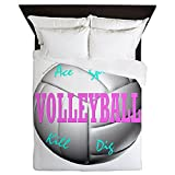 CafePress - Volleyball - Queen Duvet Cover, Printed Comforter Cover, Unique Bedding, Microfiber